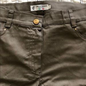 Cotton beige pants, made in Italy size 6-8.